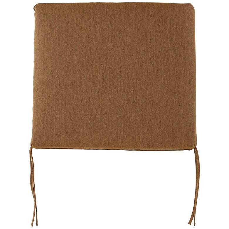 """Sunbrella Parma Canvas Teak 4"""" Thick Tied Chair Cushion"""