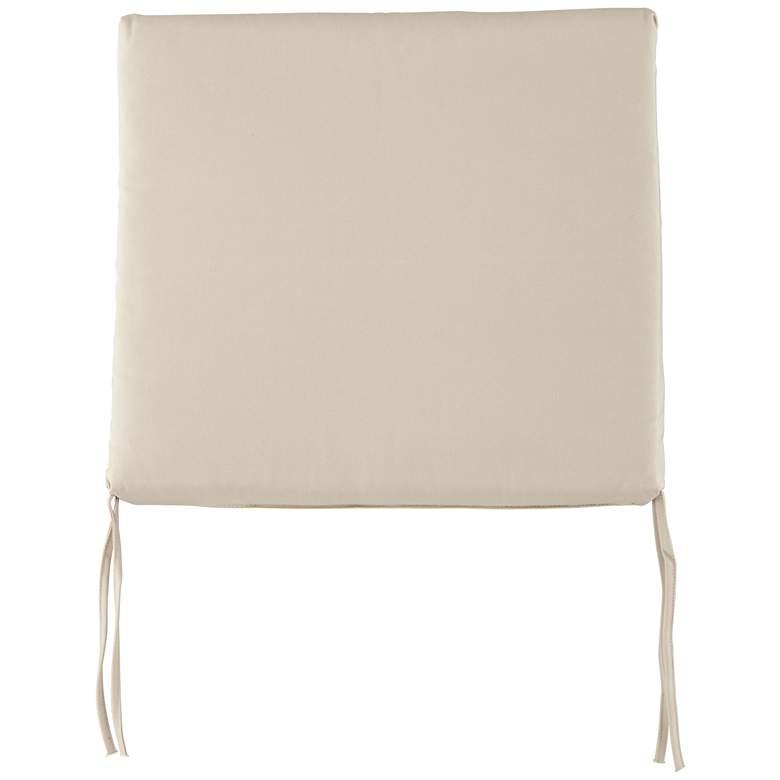 "Parma Canvas Antique Beige 4"" Thick Tied Chair Cushion"