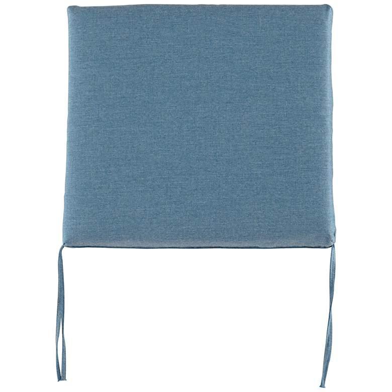 """Sunbrella Parma Cast Lagoon 4"""" Thick Tied Chair Cushion"""