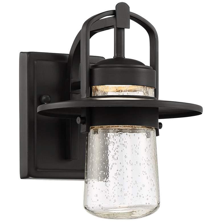 "Orville 10"" High Black Outdoor LED Wall Light"
