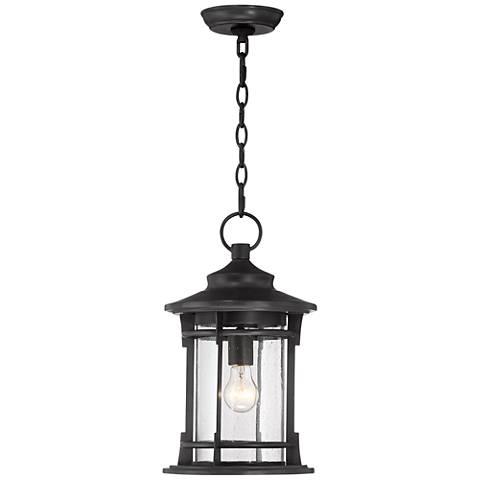 "Grenville 16 3/4"" High Black Outdoor Hanging Light"