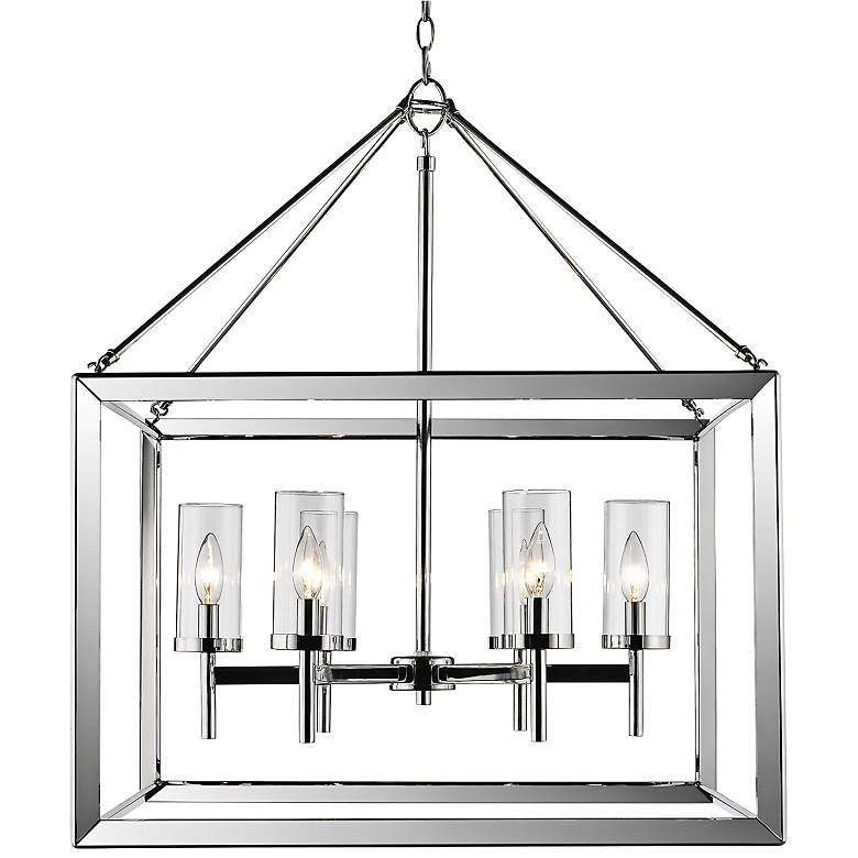 "Smyth 26 3/4"" Wide Chrome 6-Light Chandelier"