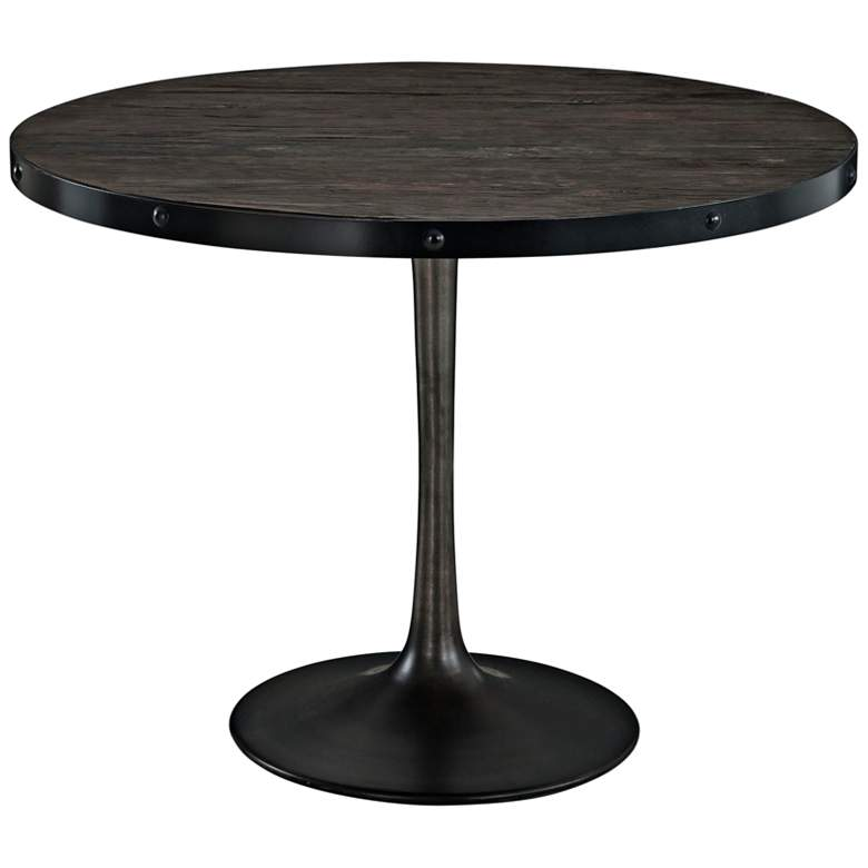 """Drive 39 1/2"""" Wide Black Round Dining Table"""