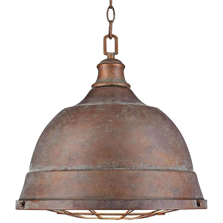 "Bartlett 16 1/2"" Wide Copper Patina Pendant Light"