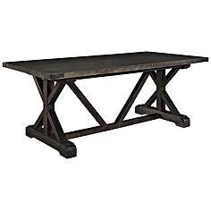 Anvil Black Rectangular Wood Dining Table