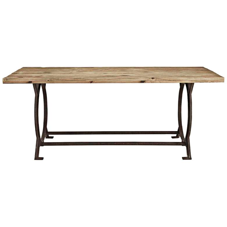 "Effuse 76"" Wide Brown Rectangular Dining Table"