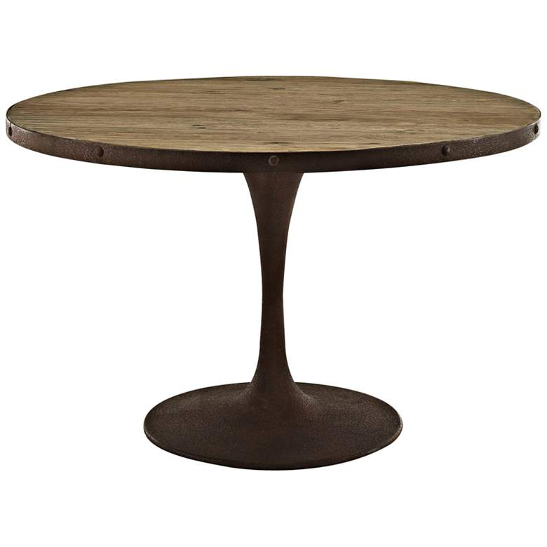 "Drive 47"" Wide Brown Medium Round Dining Table"