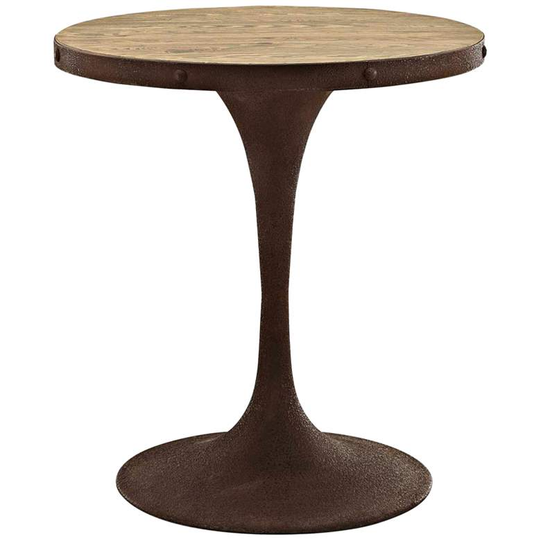 """Drive 30"""" High Brown Small Round Modern Dining Table"""