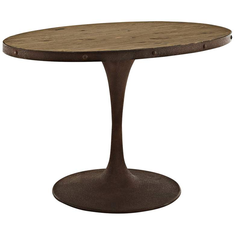 "Drive 47"" Wide Brown Small Oval Dining Table"