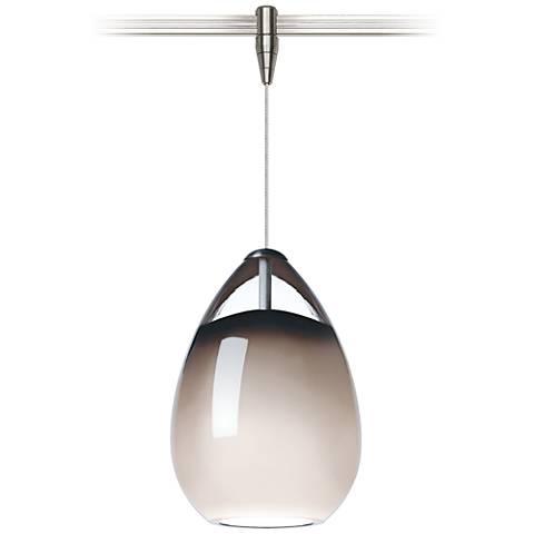 "Alina 4""W Smoke and Satin Nickel LED Monorail Mini Pendant"
