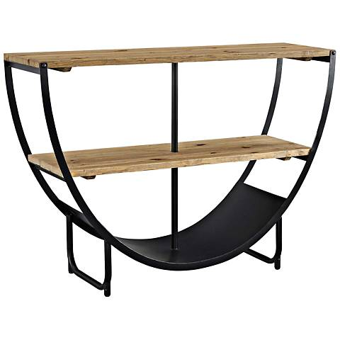 Uplift Brown and Black 2-Shelf Stand