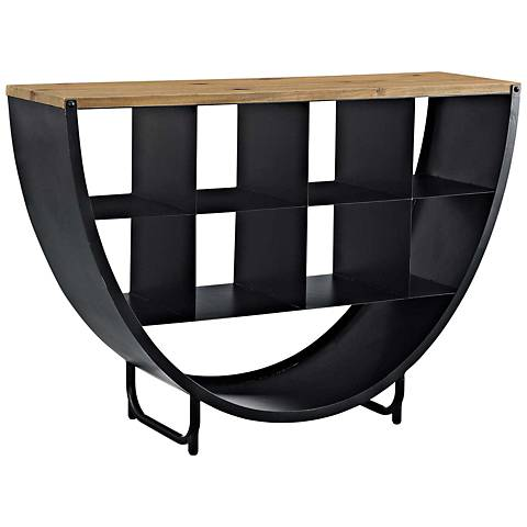 Gladden Brown and Black 3-Shelf Stand