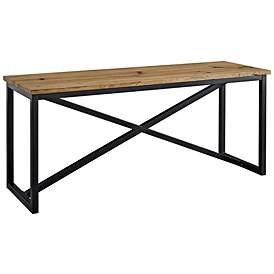 Traverse Brown And Black Plant Stand