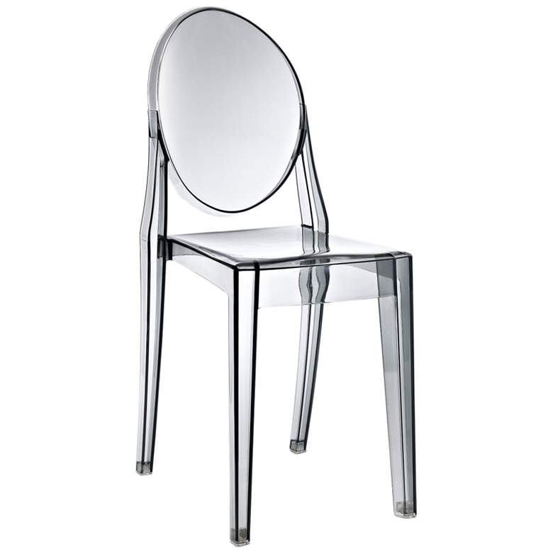 Casper Smoked Clear Outdoor Dining Chair