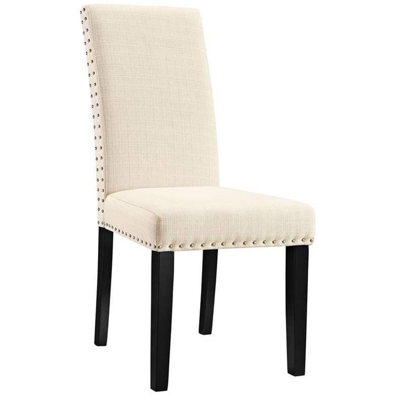 Parcel Beige Fabric Dining Side Chair