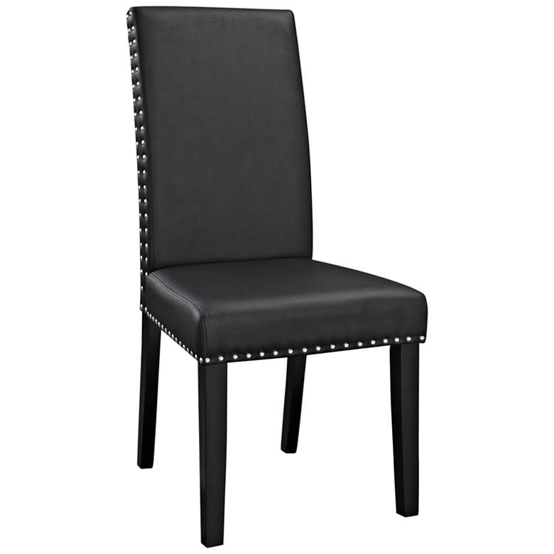 Parcel Black Faux Leather Dining Side Chair