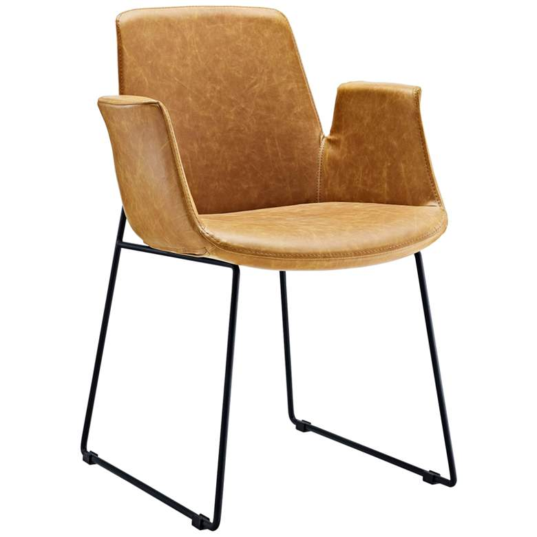 Aloft Tan Faux Leather Dining Chair