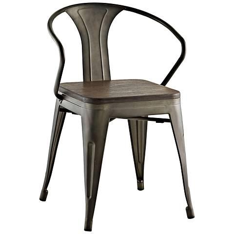 Promenade Brown Metal Dining Chair