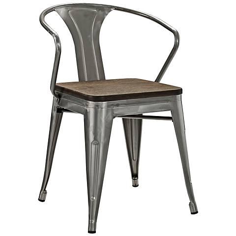 Promenade Gunmetal Metal Dining Chair