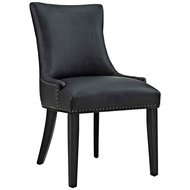 Prime Marquis Black Faux Leather Dining Chair Alphanode Cool Chair Designs And Ideas Alphanodeonline