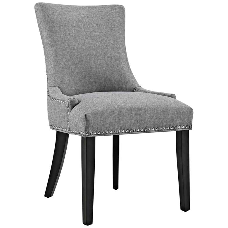 Marquis Light Gray Fabric Dining Chair