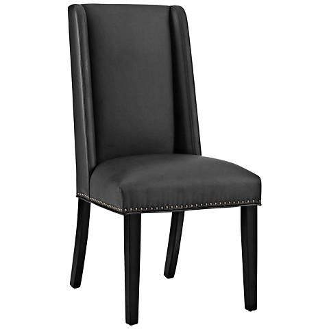 Baron Black Vinyl Dining Chair