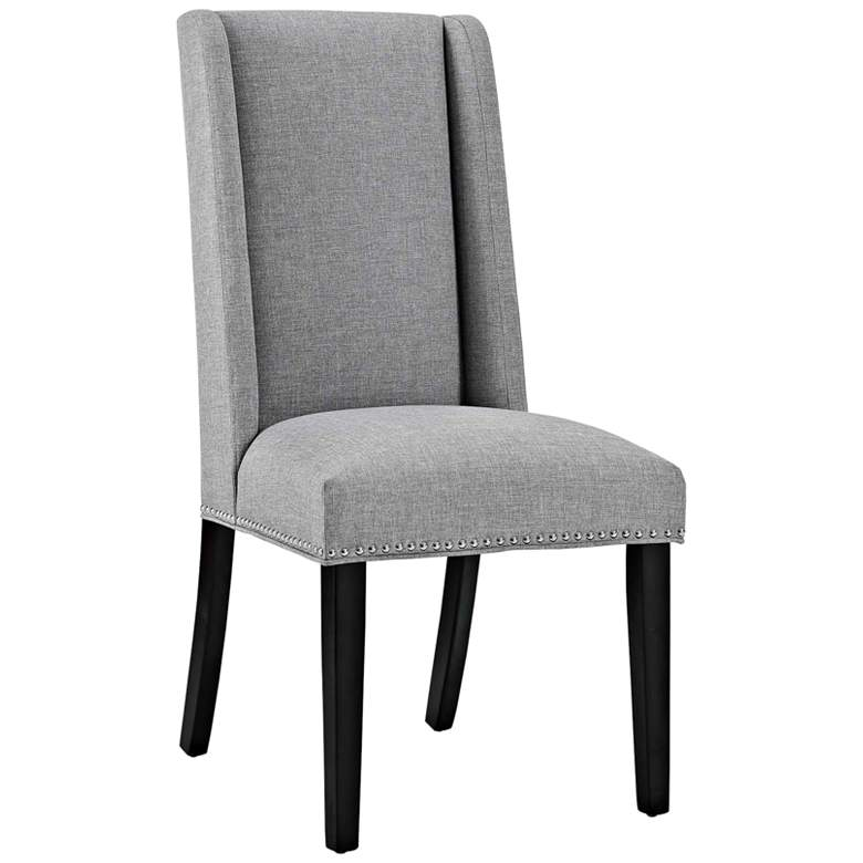 Baron Light Gray Fabric Dining Chair