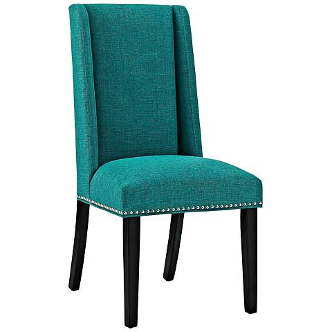 Baron Teal Fabric Dining Chair