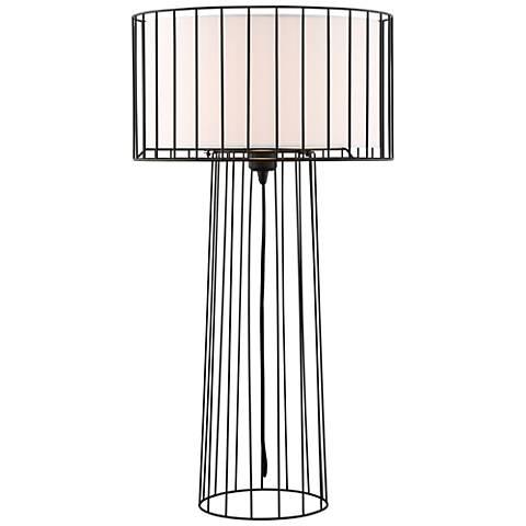 Lite Source Winslow Black Metal Table Lamp