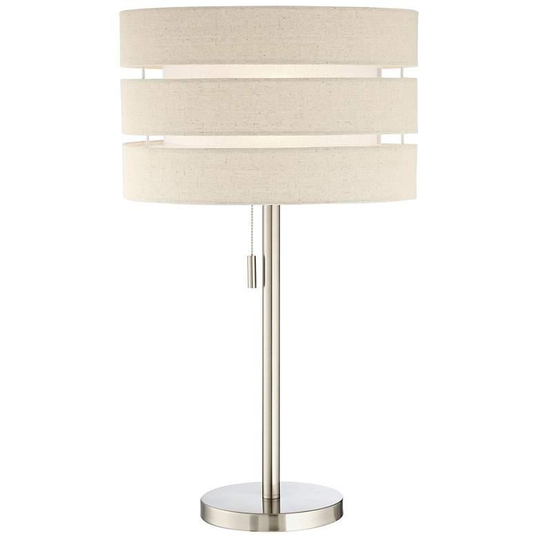 Lite Source Falan Brushed Nickel Modern Table Lamp