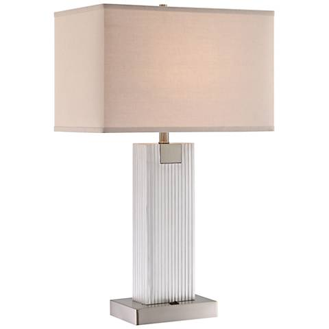 Lite Source Clifton Brushed Nickel 2-Light Table Lamp