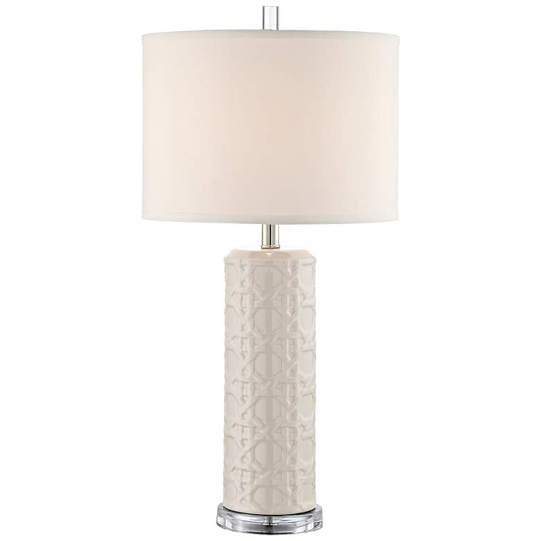 Lite Source Hackett Gray Ceramic Table Lamp
