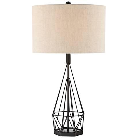 Lite Source Milton Matte Black Metal Table Lamp