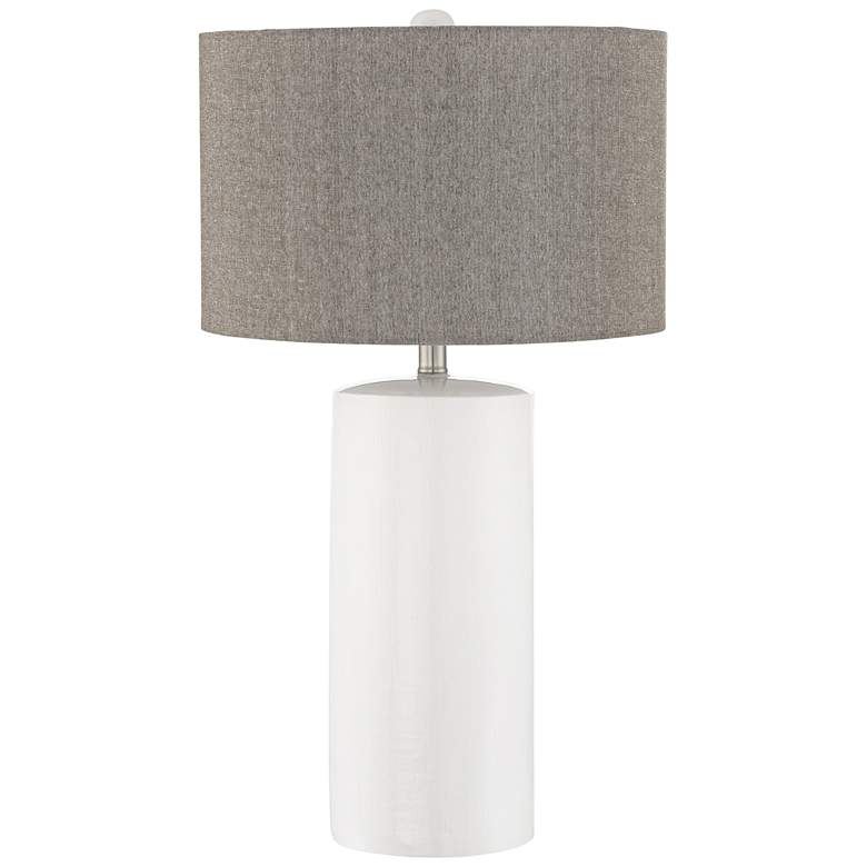 Lite Source Jacoby White Ceramic Table Lamp
