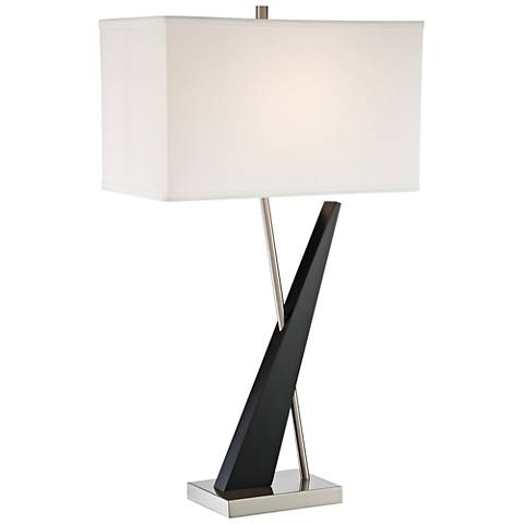 Lite Source Viggo Dark Walnut Table Lamp