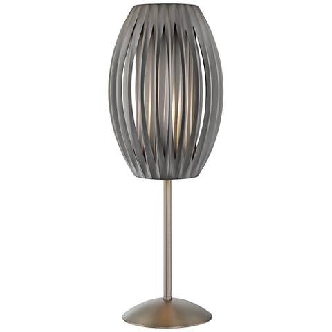 Lite Source Egg Satin Steel Table Lamp