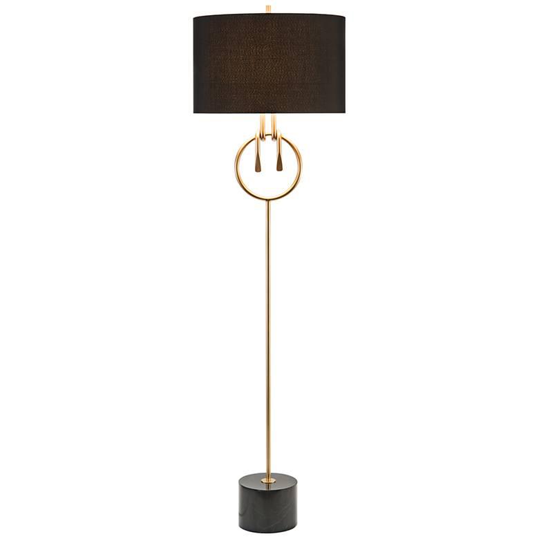 John Richard Trent Gold Plated Wrapped Knot Floor Lamp