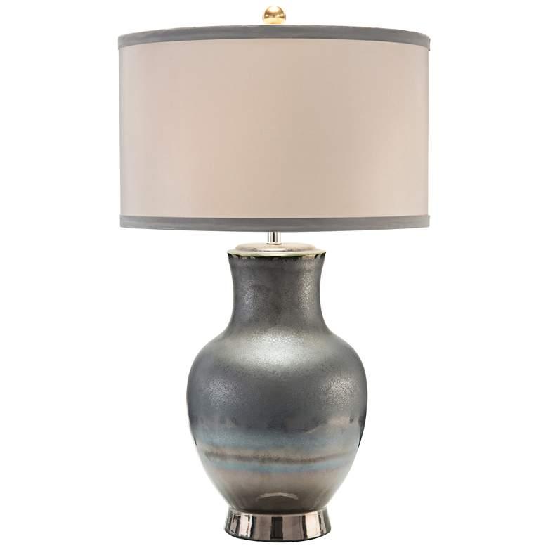John Richard Genesis Bronze Ceramic Reflections Table Lamp