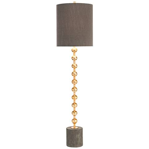 John Richard Cecily Gray Concrete and Gold Orb Buffet Lamp