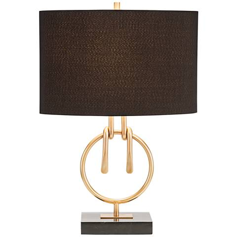 John Richard Trent Gold Plated Wrapped Knot Table Lamp
