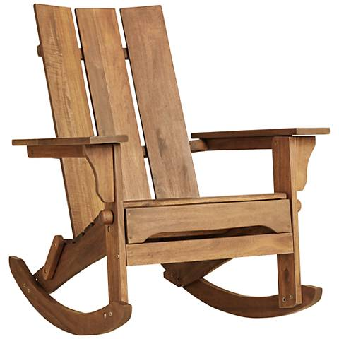 Modern Adirondack Rocking Chair - #33V59 | Lamps Plus