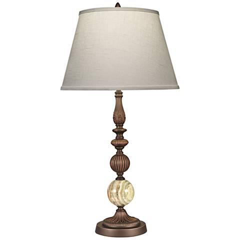 Stiffel Devon Oxidized Bronze Table Lamp