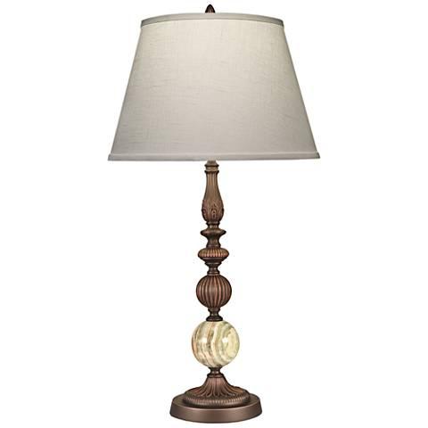Stiffel Devon Oxidized Bronze Table Lamp