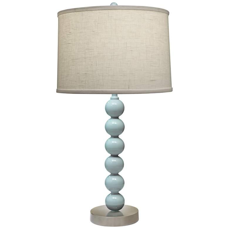 Stiffel Charlotte Gloss Light Blue Metal Table Lamp