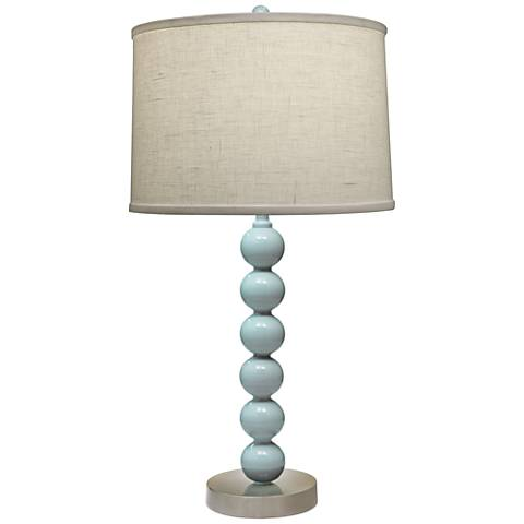 Stiffel Charlotte Gloss Light Blue Metal Table Lamp