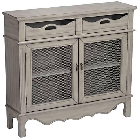 "Mansfield Antique Taupe 39 3/4"" Wide 2-Door Storage Cabinet"