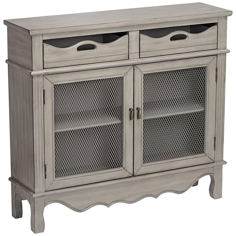 "Mansfield 39 3/4"" Wide Antique Taupe 2-Door Storage Cabinet"