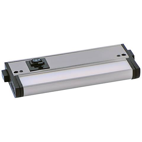 "CounterMax MX-L-120-3K 6"" W Satin Nickel LED Undercab Light"