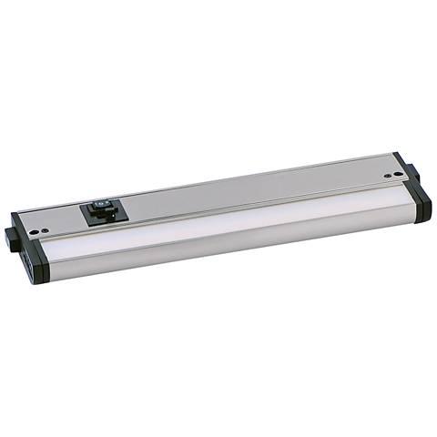 "CounterMax MX-L-120-3K 12"" W Satin Nickel LED Undercabinet Light"