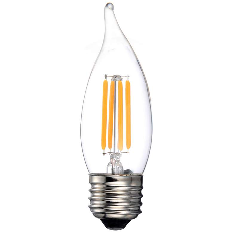 40W Equivalent Clear 4W LED Dimmable Filament Flame E2